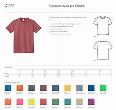 Port Company Color Chart Port Amp Company Pc099 Pigment Dyed Tee Shirts