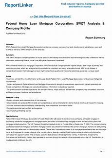 Federal Home Loan Mortgage Corporation Federal Home Loan Mortgage Corporation Swot Analysis