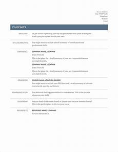 Easy Resume Template Word 17 Free Resume Templates For 2020 To Download Now