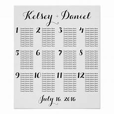 Wedding Seating Chart Poster Size Simple Wedding Seating Chart Poster Zazzle Com