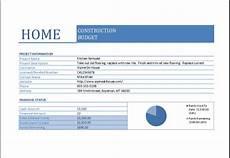 House Building Budget Home Construction Budget Worksheet For Excel Excel Templates