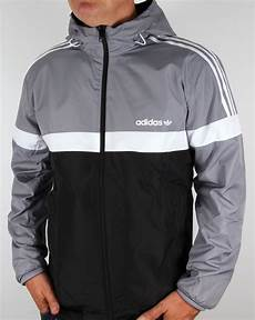 adidas originals reversible windbreaker grey black jacket