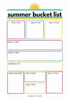 Bucket List Printable Template Free Template Summer Bucket List Smart Cents