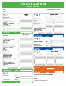 Budget Form Personal Budget Form Templates At Allbusinesstemplates Com