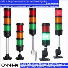 Led Stack Lights M4 Led Stack Tower Light For Cnc Machine Red