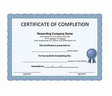 Completion Certificate Sample 25 Work Completion Certificate Templates Word Excel Samples