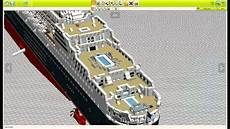 Lego Digital Designer Models Lego Queen Mary 2 Lego Digital Designer Youtube