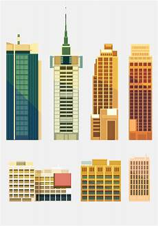 Building Templates City Building Skyscrapers Template Vector Set 02 Free Download