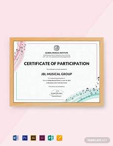 Sample Certificate Of Participation Free Choir Certificate Of Participation Template Word