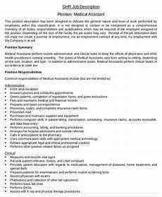 Medical Assistant Duties And Responsibilities List 10 Medical Assistant Job Description Templates Pdf Doc