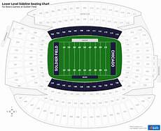Soldier Field Seating Chart Lower Level Sideline Soldier Field Football Seating