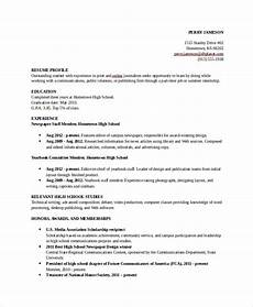 Resume For High School Student For College Free 8 Sample College Resume Templates In Pdf Ms Word