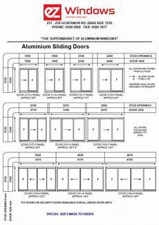 Exterior Door Sizes Chart Standard Sizes Ez Windows Aluminium Windows And Doors