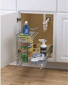 sink cabinet sliding rack pull out storage