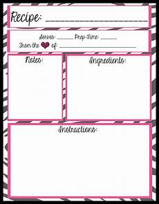 Word Template Recipe Mesa S Place Full Page Recipe Templates Free Printables