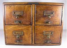 antique library bureau solemakers 4 drawer oak index file
