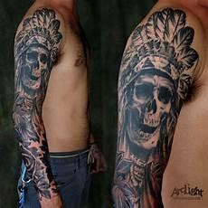Full Sleeve Designs Skulls Full Sleeve Skull Astec Body Modifications