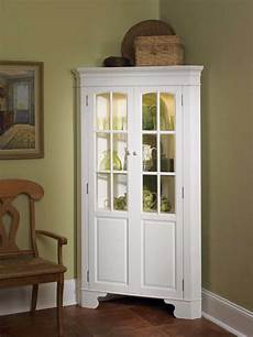 home styles corner curio cabinet with light white 88
