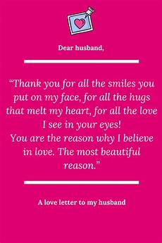 Love Letter To My Husband Sample A Love Letter To My Husband