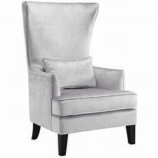 silver accent chair high back accent chair emfurn