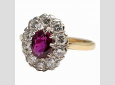 Ruby and Diamond Cluster Ring from Plaza Jewellery