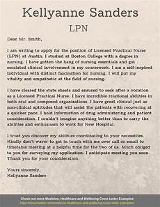 Cover Letter For Lpn New Grad Lpn Cover Letter Example Letter Of Recommendation