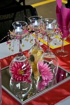 Christmas Wine Glass Tea Light Holders Wine Glass Tea Light Candle Holders Baby Shower Table