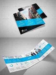 Foldable Pamphlet Template Foldable Flyer Templates Corporate Business Blue Tri Fold