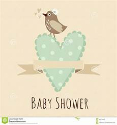 Baby Shower Invite Backgrounds Baby Shower Invitation Birthday Card With Bird Heart