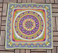 large crochet squares or second of dandelion mandala