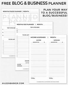 Weekly Business Planner Free Blog And Business Planner Printable Business