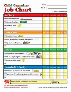 Job Responsibilities Chart Job Chart Child Organizer Chore Chart Kids Chores For