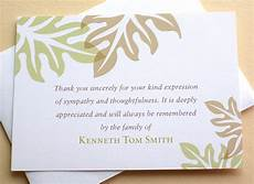 Condolences Thank Yous Sympathy Thank You Cards Brown And Green Leaves