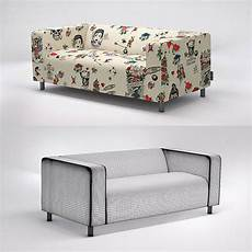Klippan Sofa 3d Image by Ikea Klippan Sofa With Artefly Covers 3d Model Cgtrader