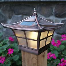 Outdoor Solar Post Cap Lights Classy Caps Solar 2 Light Led Fence Post Cap Amp Reviews