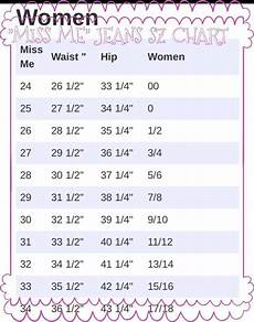 Miss Me Plus Size Chart Miss Me Jeans Sz Chart Also See Why I Can Pinterest