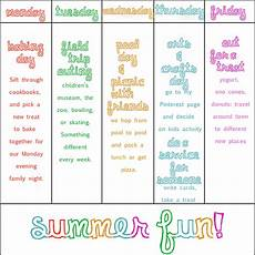 Weekly Activities Plan Petunia Poppy The Blog School S Out For The Summer