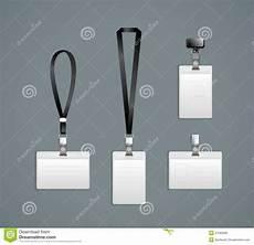 Lanyard Template Lanyard Retractor End Badge Templates Stock Vector