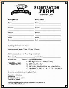 School Forms Templates Dance School Registration Form Template Free