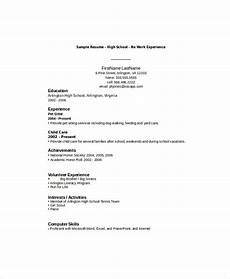 Resume Template For High School Students With No Work Experience 10 High School Student Resume Templates Pdf Doc Free