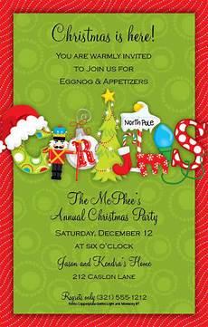 Christmas Gift Exchange Invitations Christmas Open House Invitations Christmas Open House