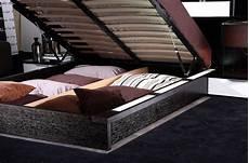 gamma modern platform bed with air lift storage black