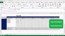 How To Create A Work Schedule On Excel How To Create A Work Schedule In Excel Youtube