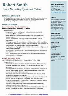 Marketing Specialist Resume Sample Email Marketing Specialist Resume Samples Qwikresume