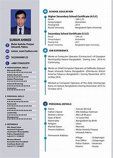Layout For A Cv Professional Resume And Cv Design By Jibon072007