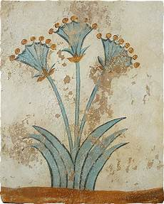 the papyrus plant minoan fresco were found in house