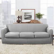 Surefit Sofa Slipcovers Leather 3d Image by Ultimate Stretch Leather Four Sofa Slipcover Surefit
