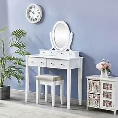 white bedroom dressing table makeup table with mirror and