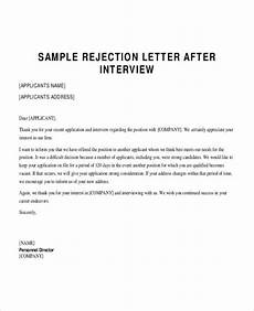Rejection Letter Template Free 6 Sample Applicant Rejection Letter Templates In Pdf