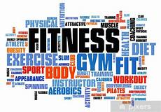 Words Related To Fitness Fitness Word Cloud Wall Mural Pixers 174 We Live To Change